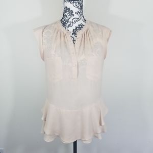 Mossimo Sheer Flowy Blouse